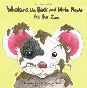 Whiskers, the Black and White Mouse - At The Zoo (front cover)